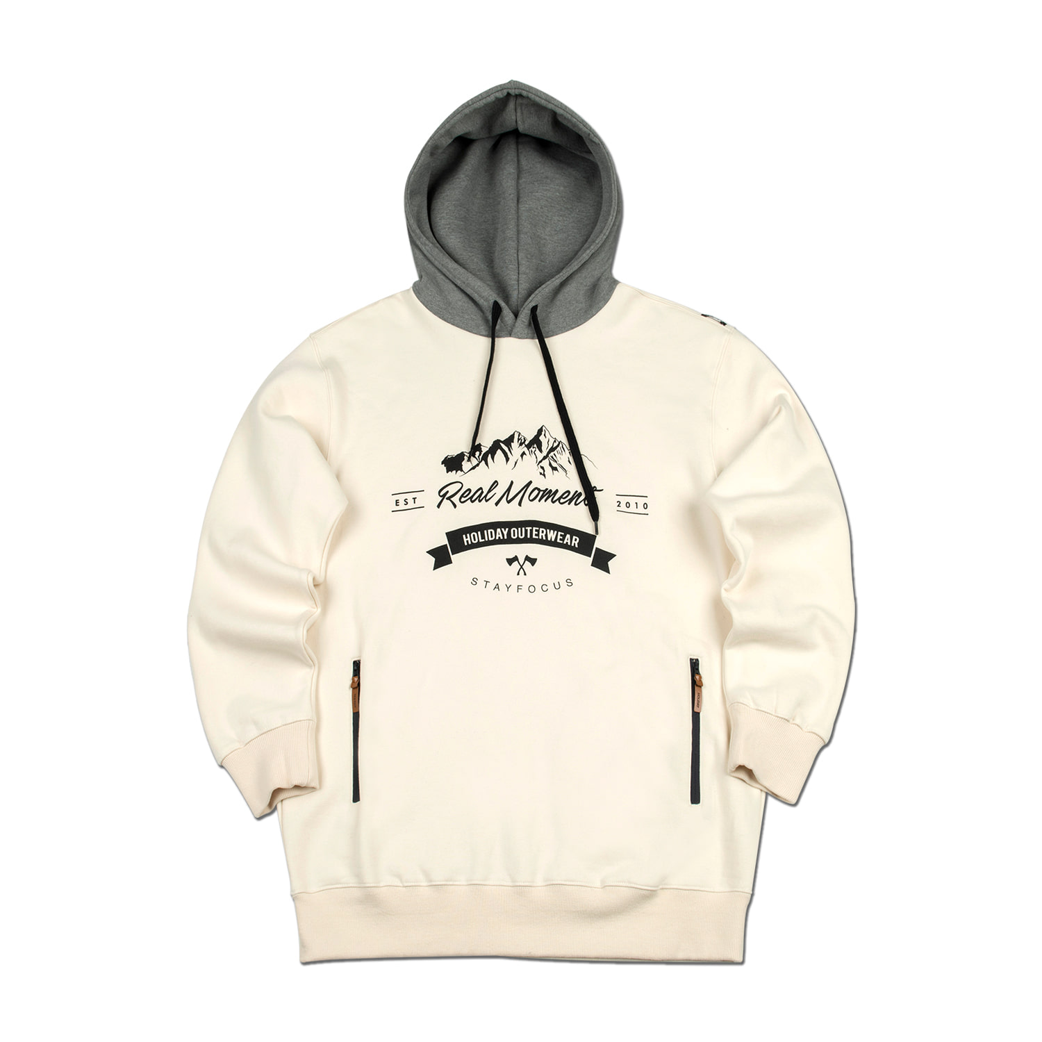 STAMP hoodie - creamHOLIDAY OUTERWEAR