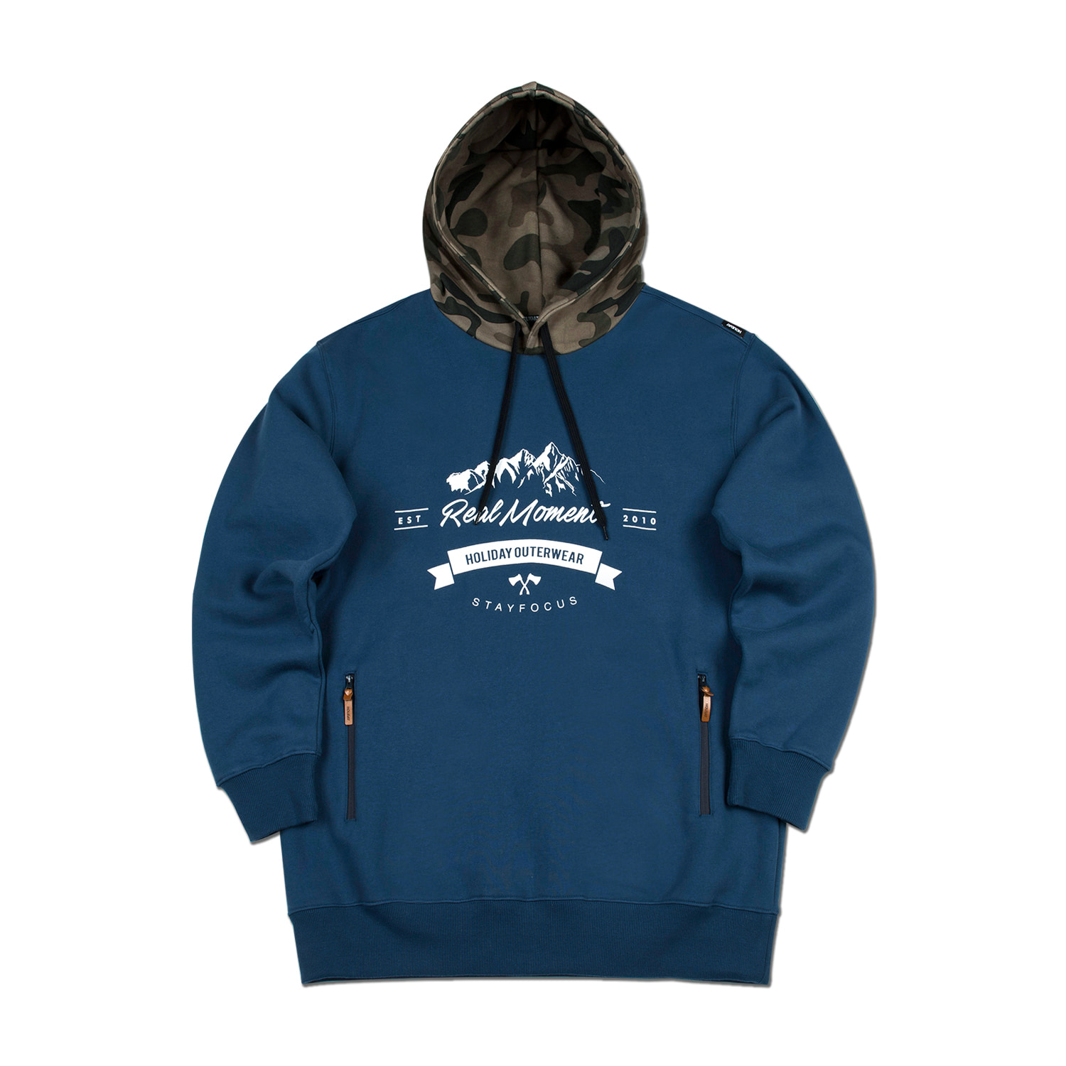 STAMP hoodie - blueHOLIDAY OUTERWEAR