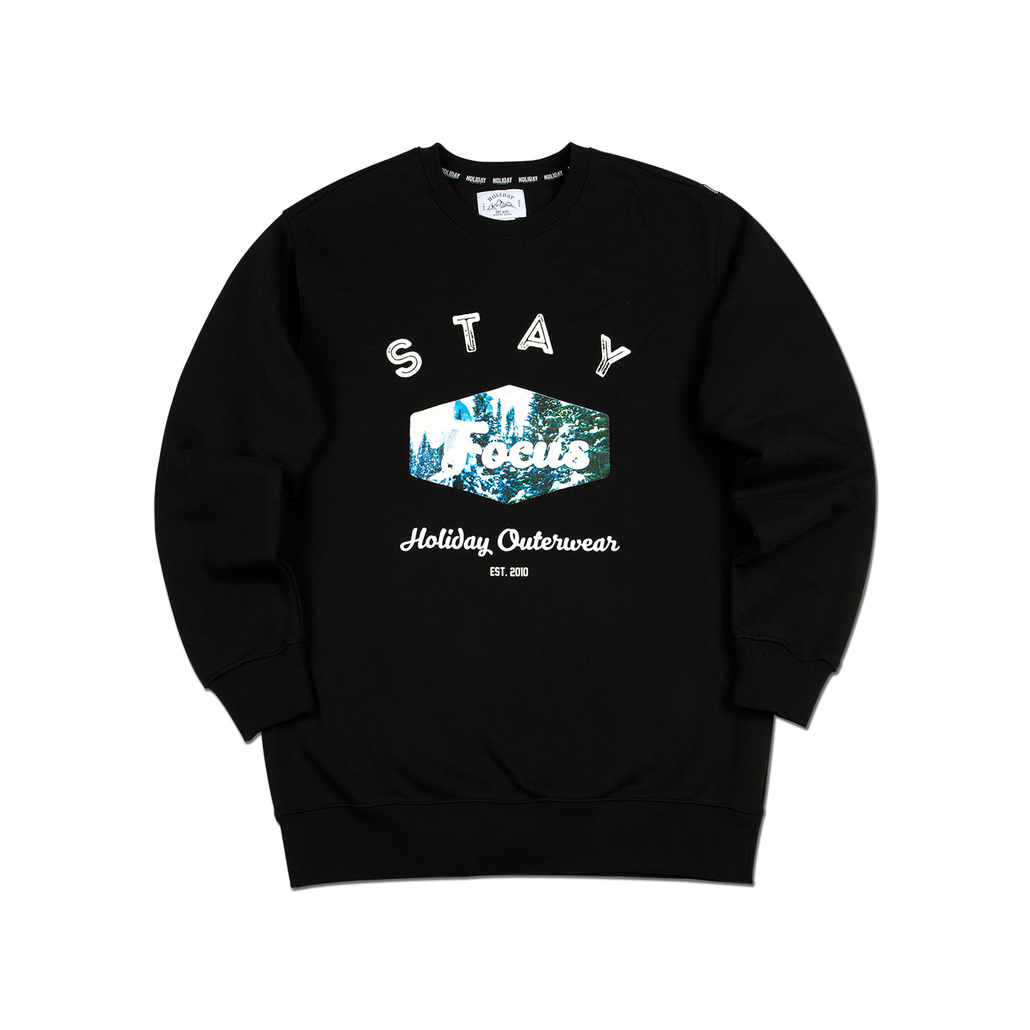 FOREST crewneck - black