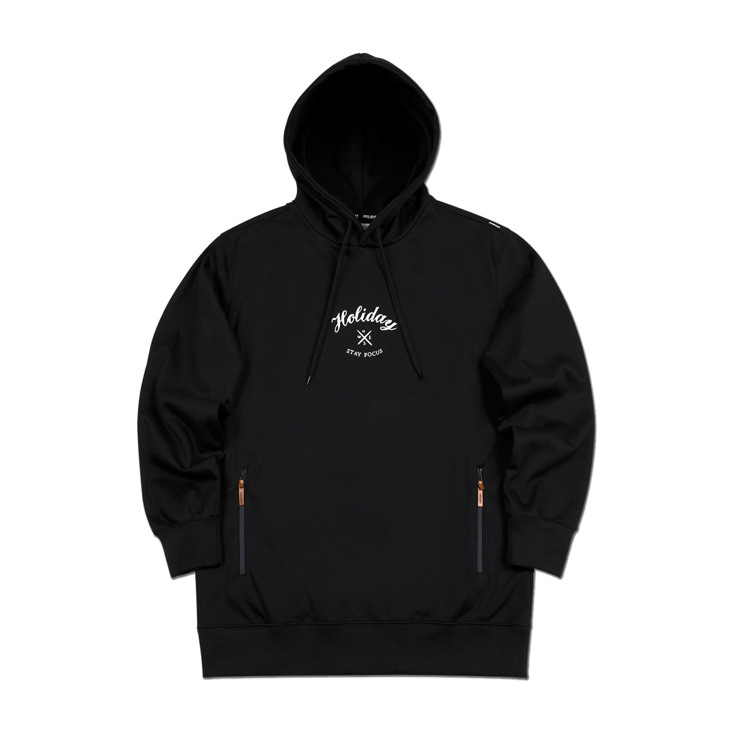 FORBIDDEN waterproof hoodie - blackHOLIDAY OUTERWEAR