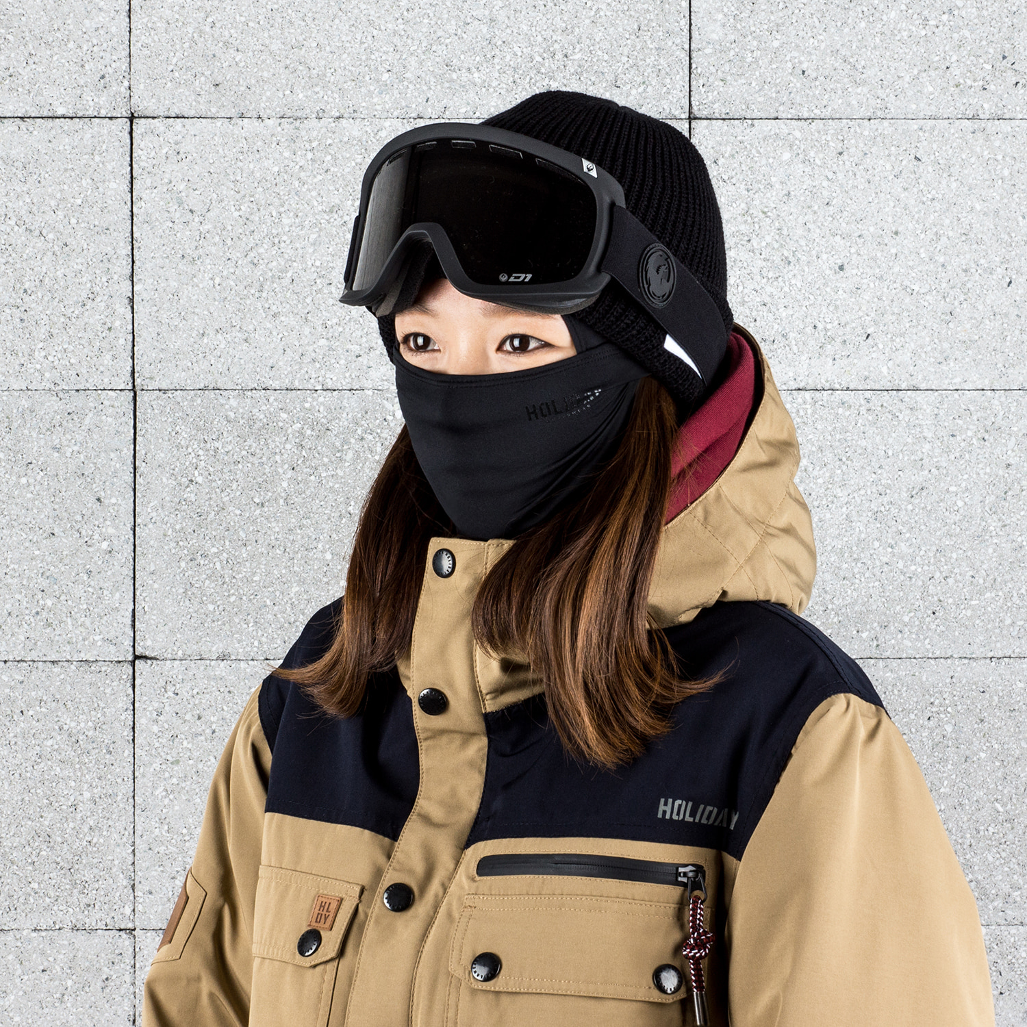 O.G WOMAN balaclava - black[sport] 여성용HOLIDAY OUTERWEAR