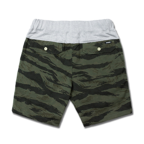 HOLIDAYOUTERWEAR [홀리데이아우터웨어]COMFORT short pants - tiger khakiHOLIDAY OUTERWEAR