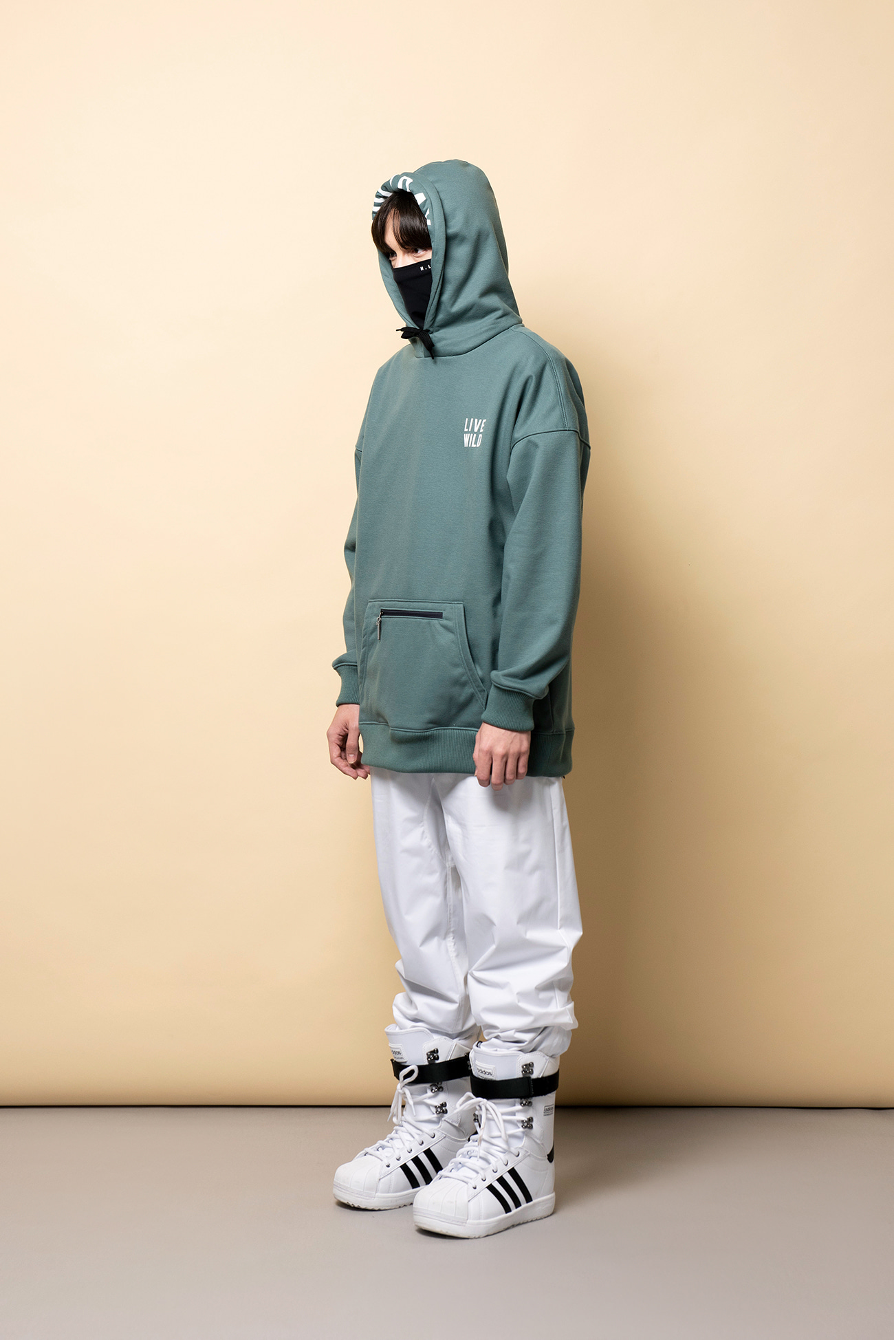 LIVING waterproof hoodie[방수후드] - bluegreenHOLIDAY OUTERWEAR