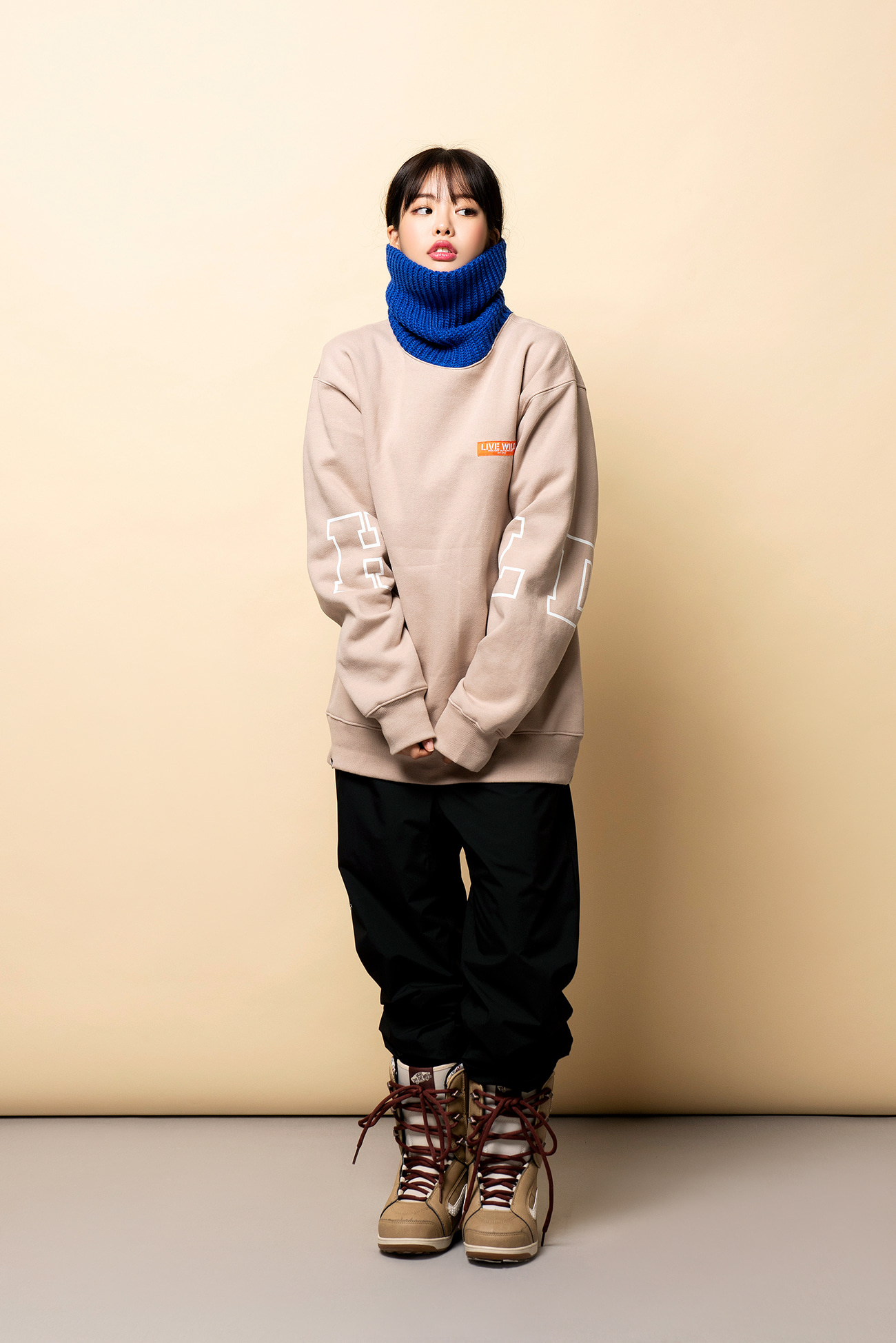 KNIT TURTLE neck - beigeHOLIDAY OUTERWEAR