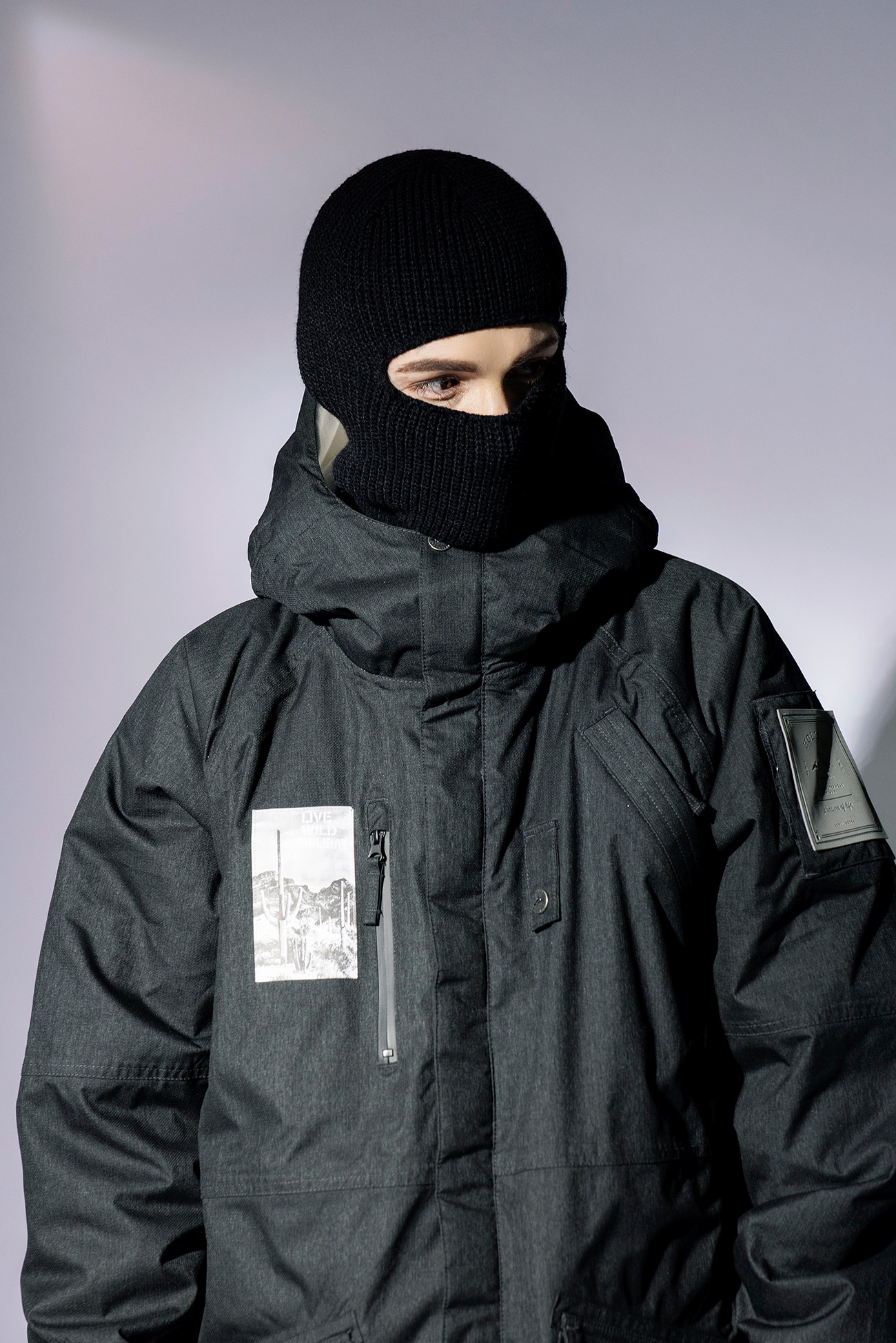 KNIT balaclava -blackHOLIDAY OUTERWEAR