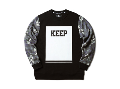 HOLIDAYOUTERWEAR [홀리데이아우터웨어]Planet keeper crewneck - black