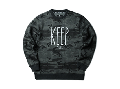HOLIDAYOUTERWEAR [홀리데이아우터웨어]Nature defender crewneck - black/gray camo