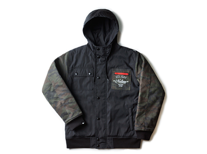 HOLIDAYOUTERWEAR [홀리데이아우터웨어]URBAN PLAYER jacket - black/camouflage [한정특가]HOLIDAY OUTERWEAR