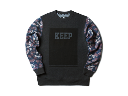 HOLIDAYOUTERWEAR [홀리데이아우터웨어]Planet keeper crewneck - charcoalHOLIDAY OUTERWEAR