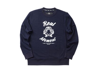 REAL FACE sweat shirt - navyHOLIDAY OUTERWEAR