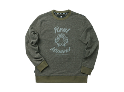 REAL FACE sweat shirt - khakiHOLIDAY OUTERWEAR