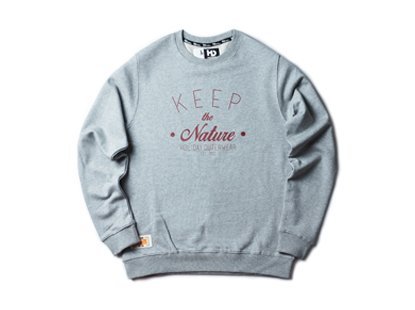 KEEP THE NATURE crewneck - melange