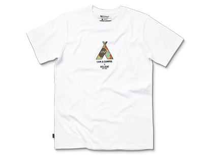 I AM A CAMPER collaboration short sleeve white