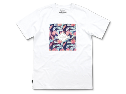 TROPICAL short sleeve white