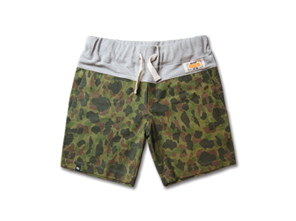 COMFORT short pants duck green camouflage [재입고]HOLIDAY OUTERWEAR