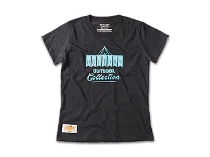 HOLIDAYOUTERWEAR [홀리데이아우터웨어] WOMAN CAMP HOLIDAY short sleeve tshirt - charcoal