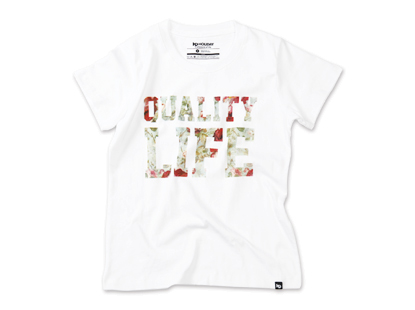HOLIDAYOUTERWEAR  [홀리데이아우터웨어] WOMAN QUALITY LIFE short sleeve tshirt - whiteHOLIDAY OUTERWEAR