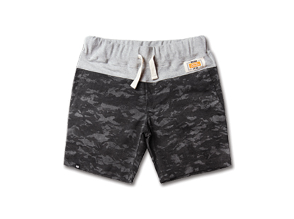 COMFORT short pants city black camouflage