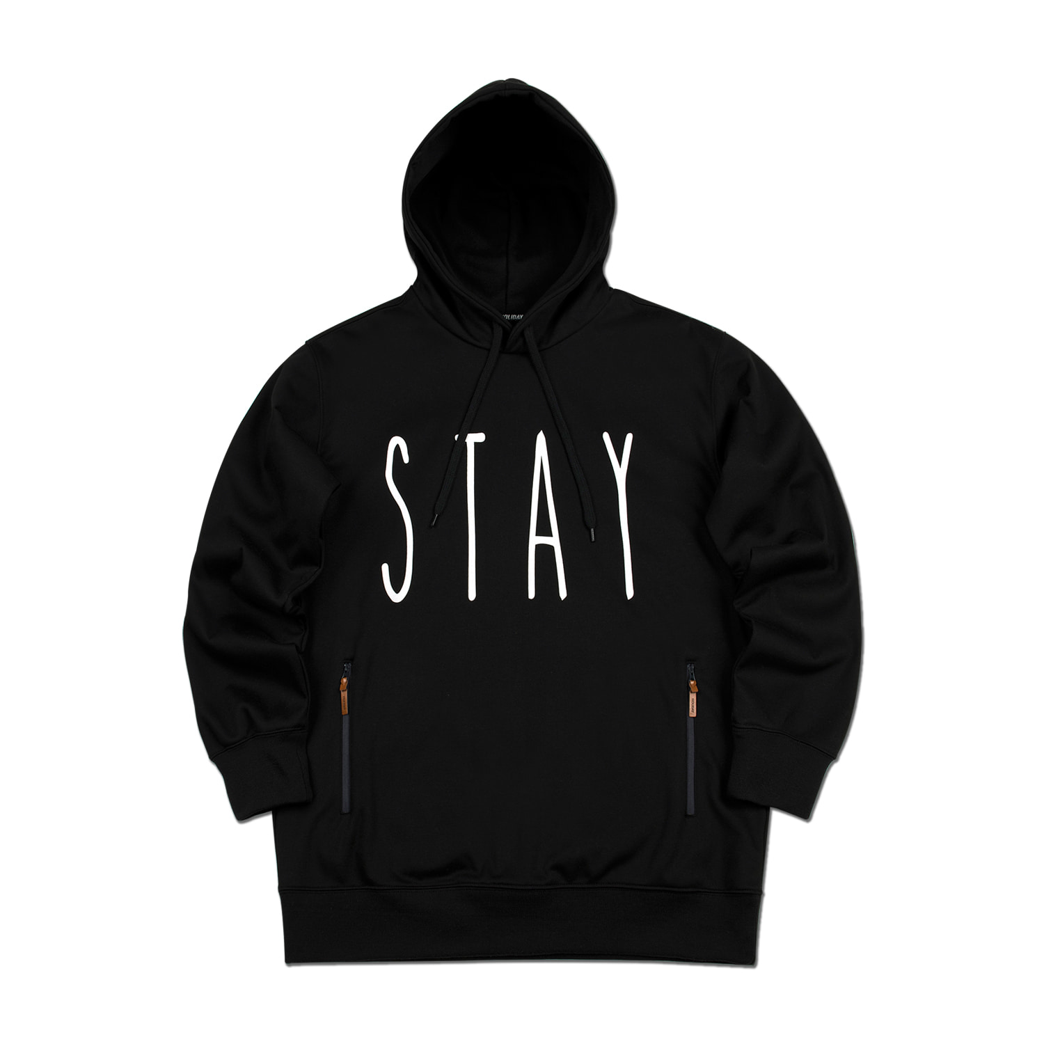 STAY waterproof hoodie[방수후드] - blackHOLIDAY OUTERWEAR