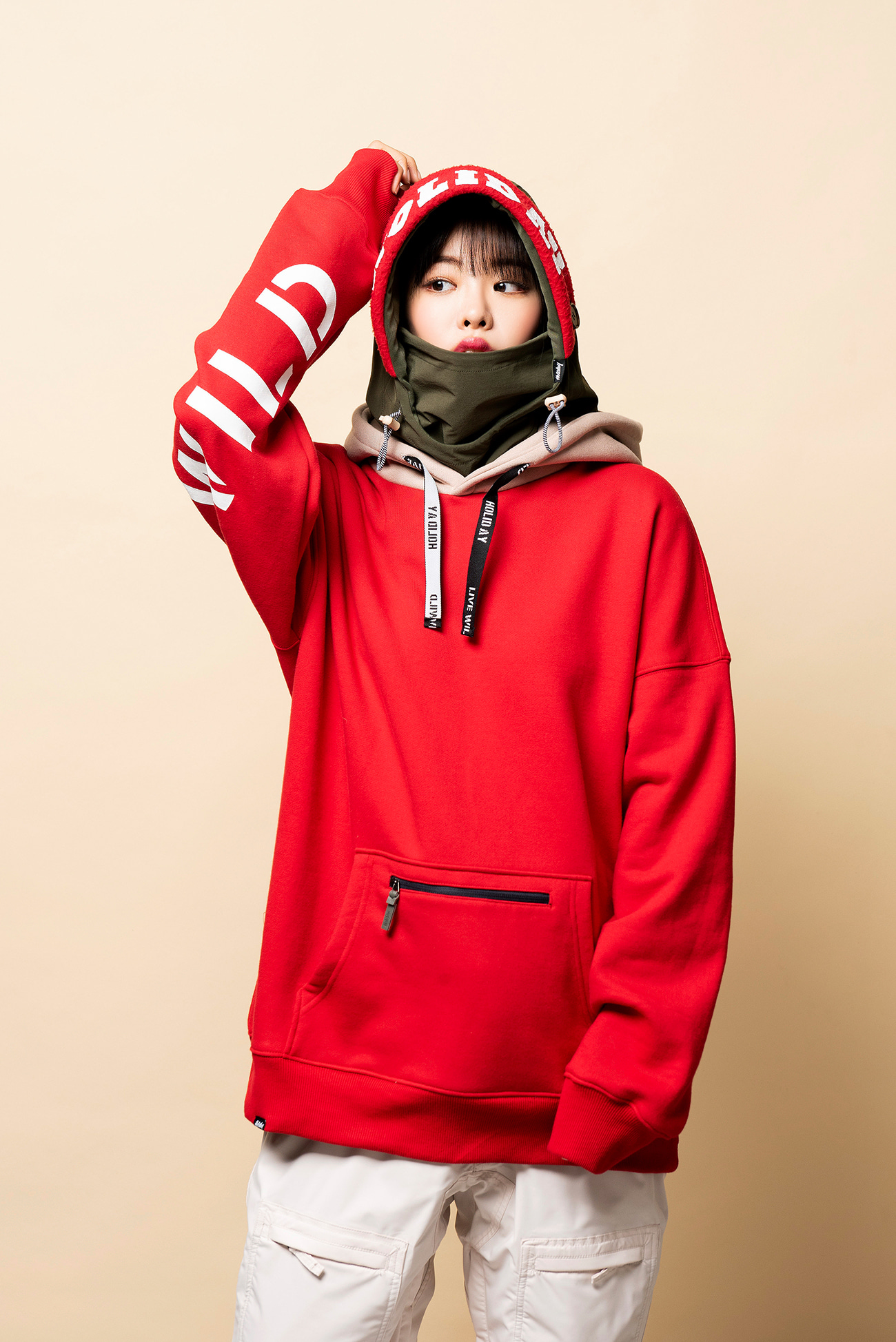 CODE hoodie - redHOLIDAY OUTERWEAR