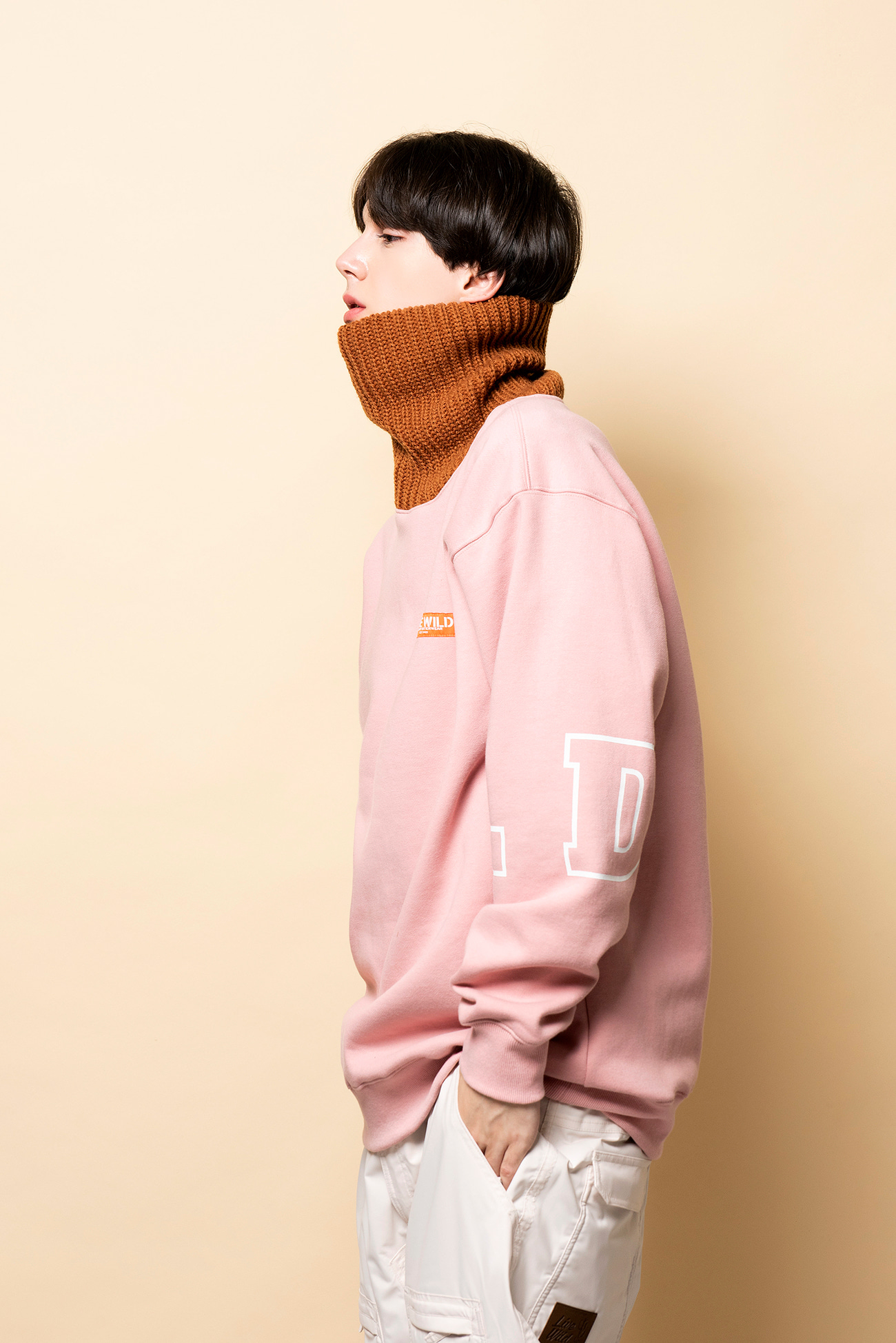 KNIT TURTLE neck - pinkHOLIDAY OUTERWEAR