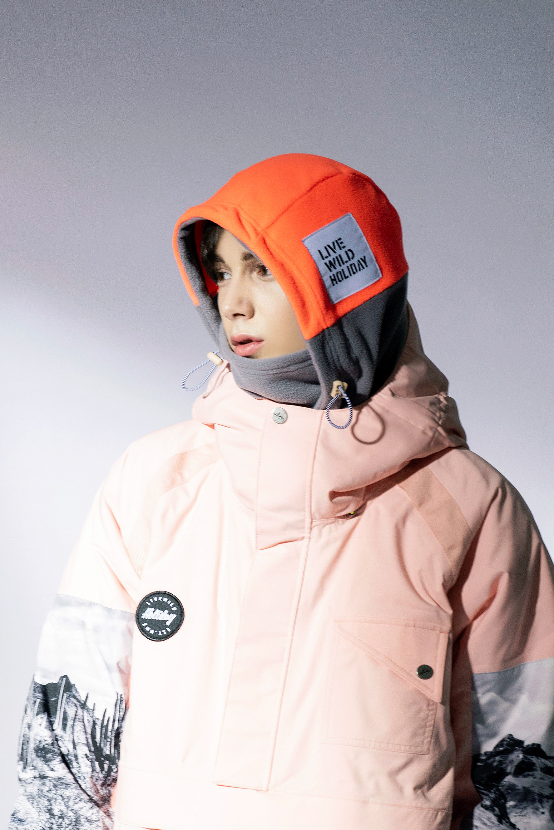 MIX hoodwarmer - gray/orangeHOLIDAY OUTERWEAR