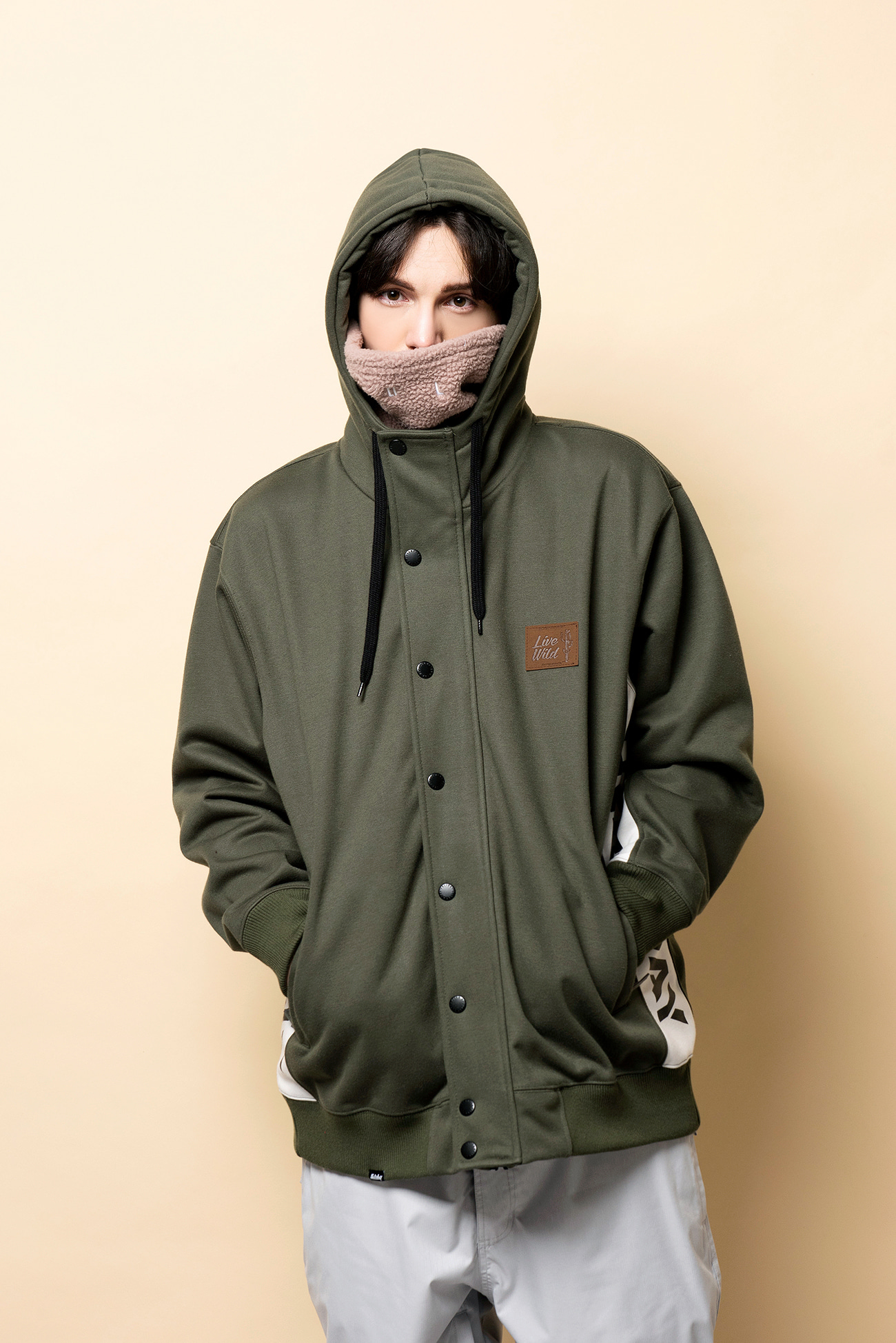 PLAYER waterproof hoodie jacket[방수집업자켓] - khakiHOLIDAY OUTERWEAR