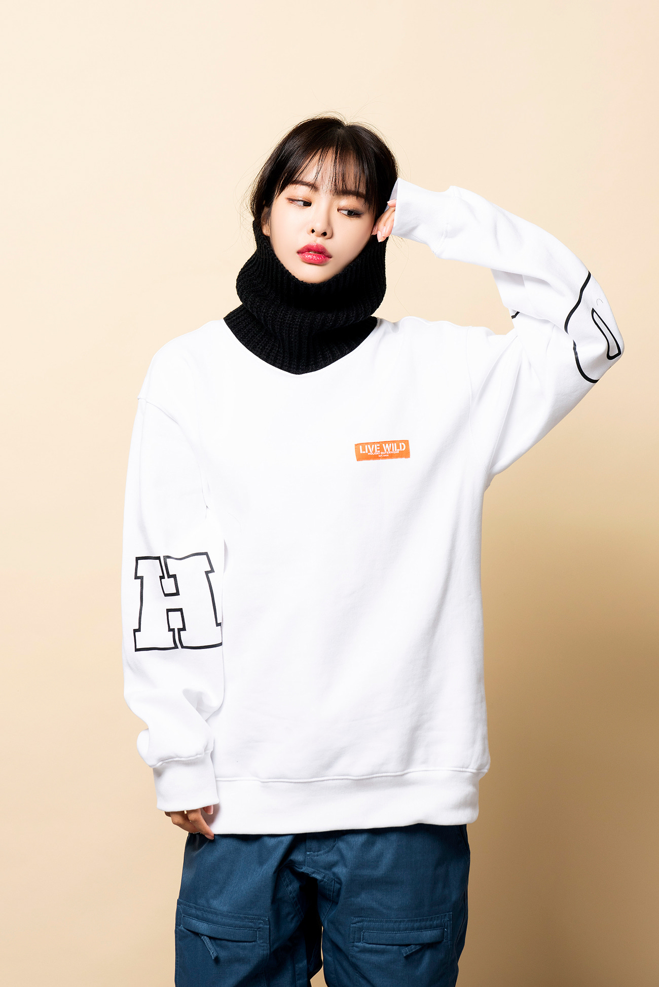 KNIT TURTLE neck - whiteHOLIDAY OUTERWEAR