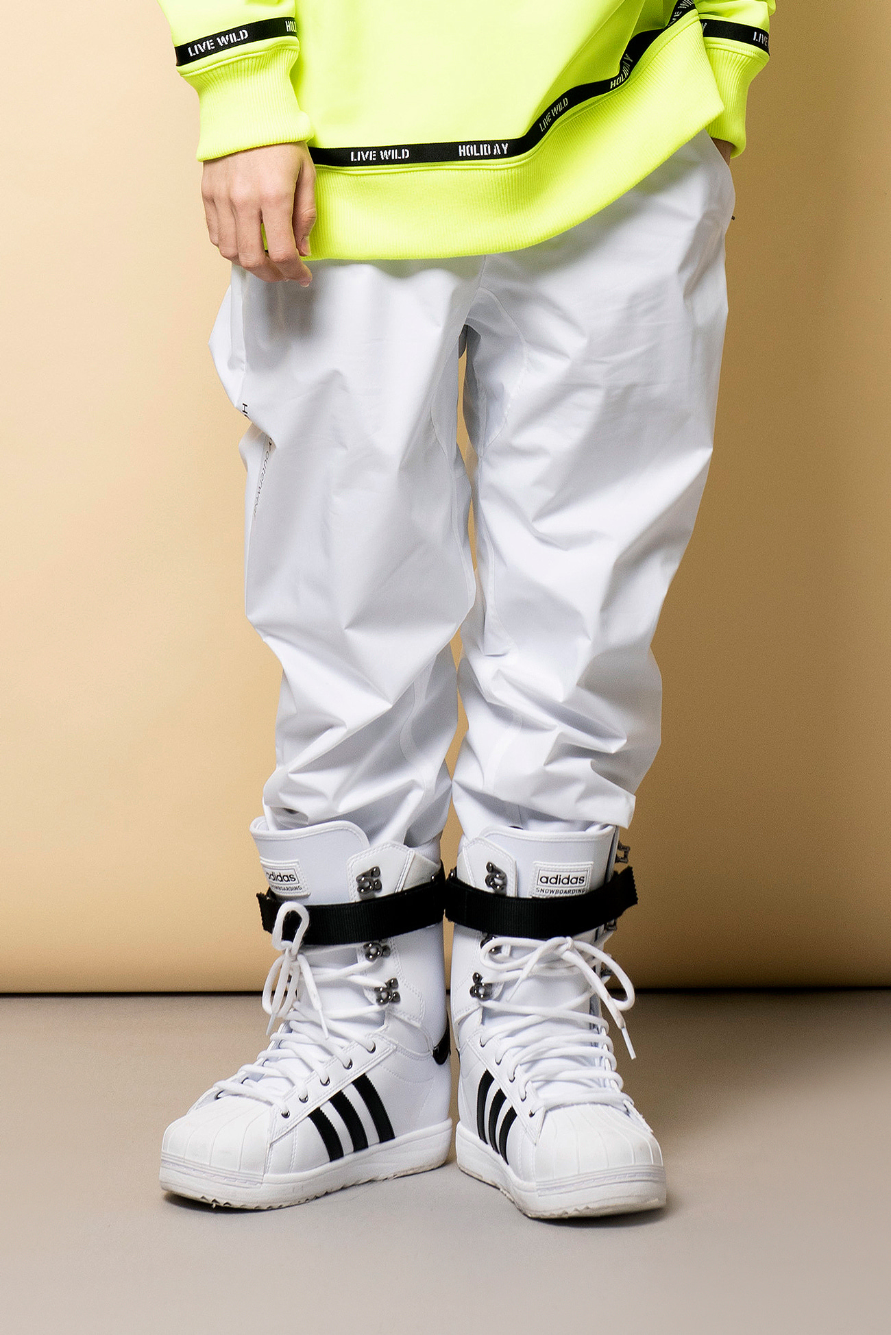 STEEZY jogger pants - whiteHOLIDAY OUTERWEAR