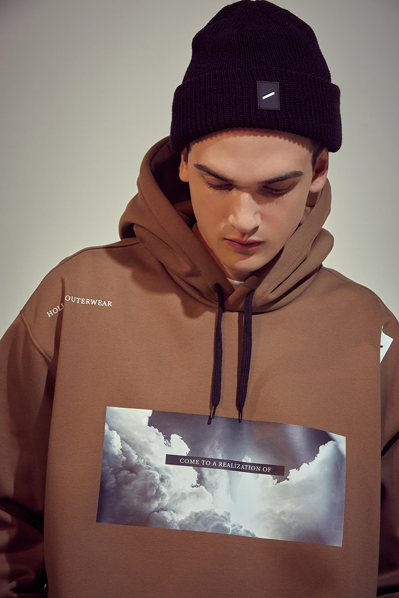 MOMENT waterproof hoodie - brownHOLIDAY OUTERWEAR