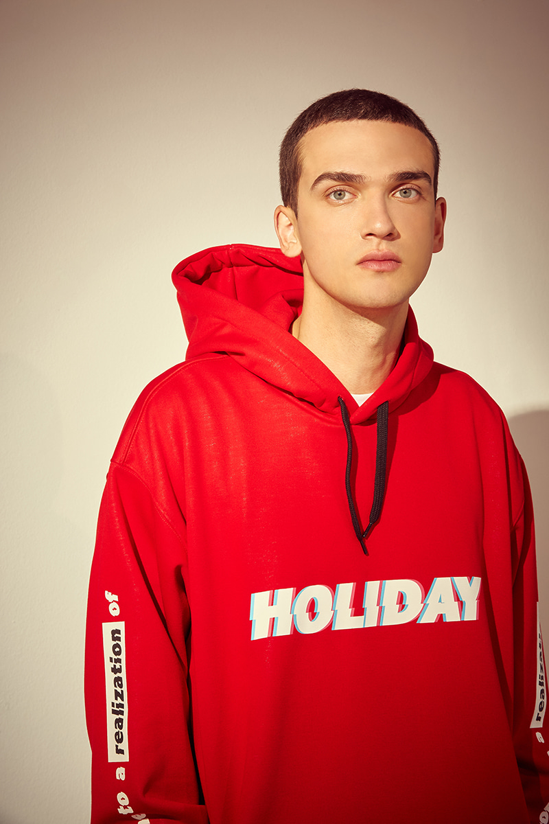 CREED waterproof hoodie - redHOLIDAY OUTERWEAR