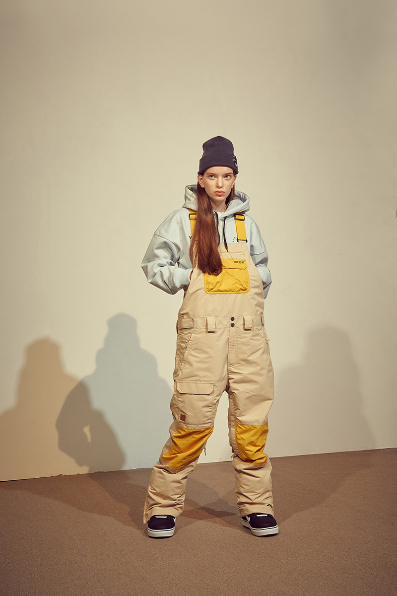ASTRO bib pants - sand beigeHOLIDAY OUTERWEAR