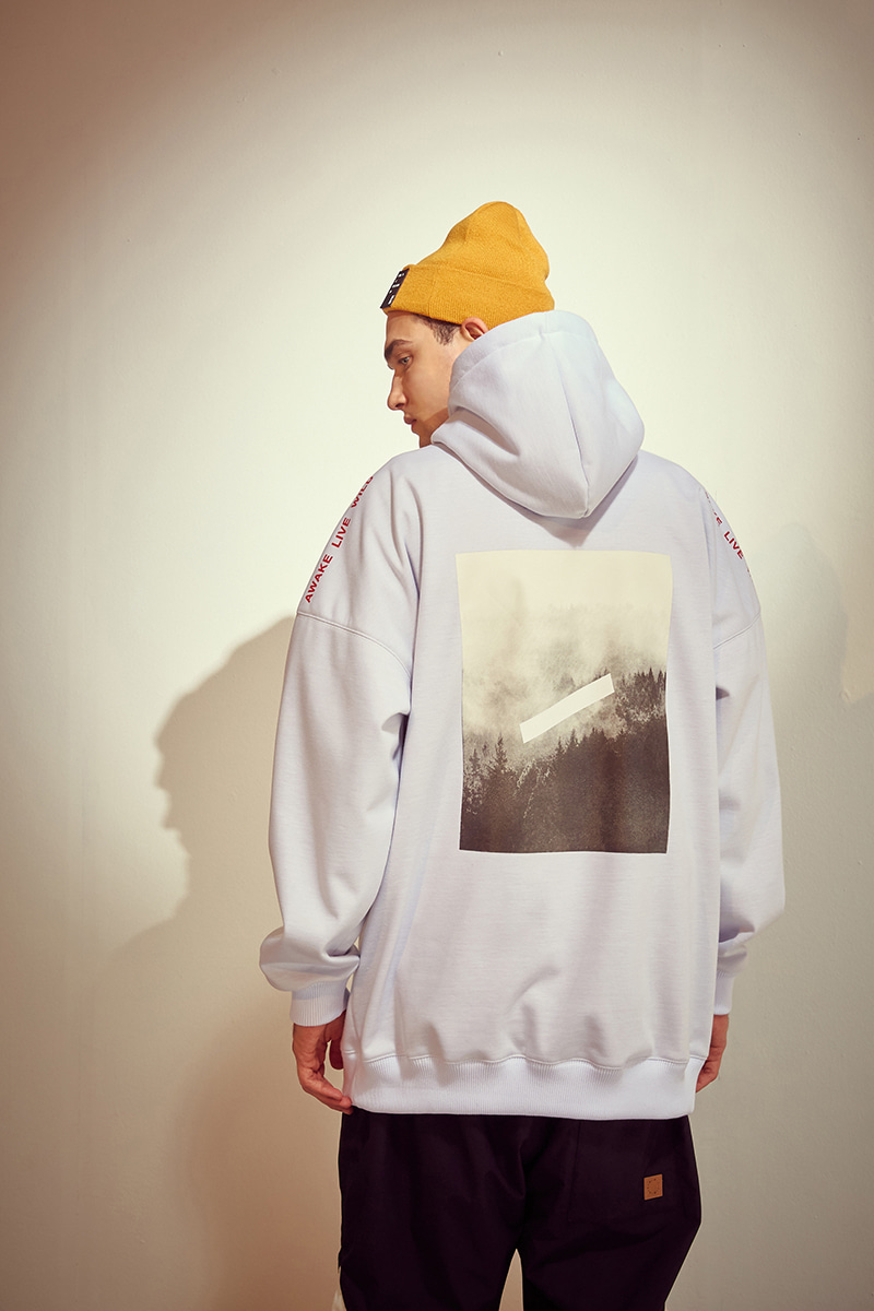 HAZE waterproof hoodie - whiteHOLIDAY OUTERWEAR