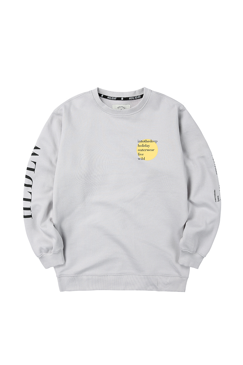 ROUND crewneck - lightgreyHOLIDAY OUTERWEAR