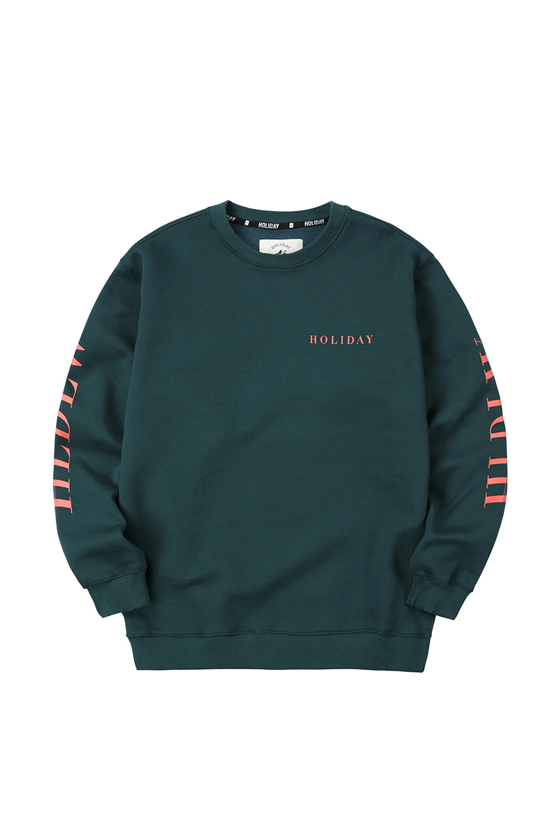 CREW inner crewneck - bottlegreenHOLIDAY OUTERWEAR